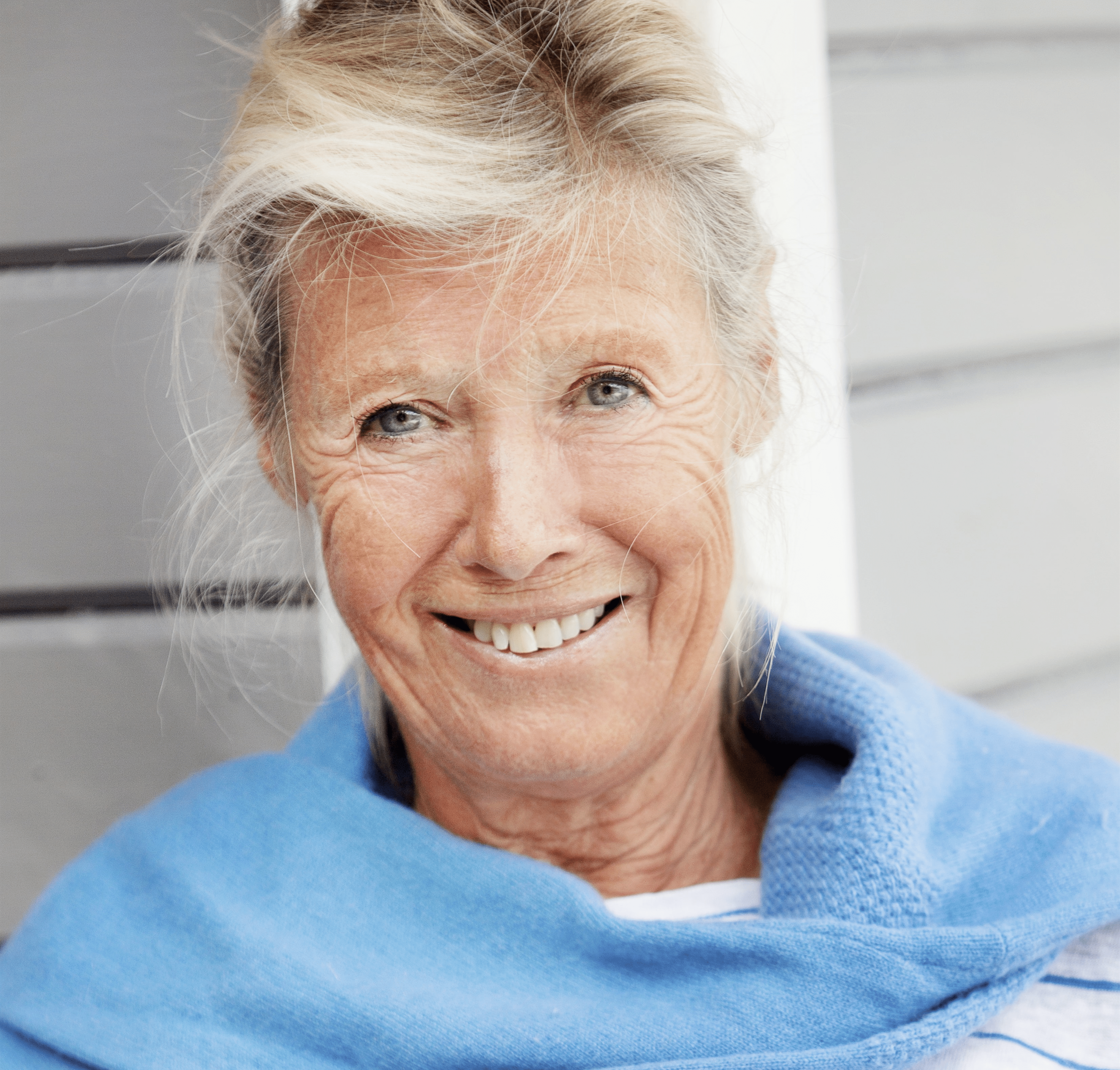 Portsträtt av äldre kvinna.